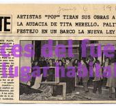 Roberto Jacoby. Serie '1868 el culo te abrocho', 1968-2008.  Imagen: Revista Gente, jueves 6 de Junio de 1968. Texto inédito de Roberto Jacoby (2008).