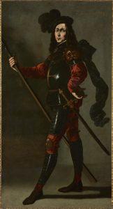 'El Infante P. Bustos de Lara', hacia 1640-1645. Francisco de Zurbarán (Fuente de Cantos, Badajoz, 1598 – Madrid, 1664).