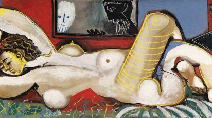 Pablo Picasso. Susana y los ancianos, 1955. Óleo sobre lienzo, 80 x 190 cm. Fundación Almine y Bernard Ruiz-Picasso para el Arte. Préstamo temporal en el Museo Picasso Málaga © Sucesión Pablo Picasso, VEGAP, Madrid, 2016.