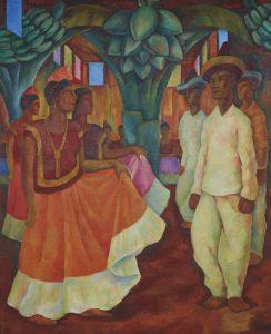 'Baile de Tehuantepec'. Diego Rivera. 1928.