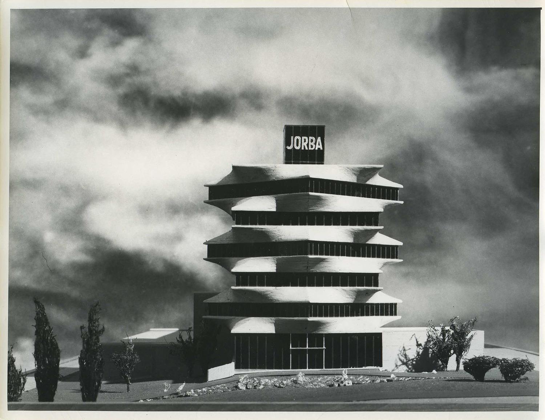 C. Jiménez. Sede de los Laboratorios JORBA, Madrid, 1965 — Miguel Fisac Serna. Copia de época — Fundación Fisac.