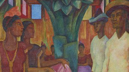 'Baile de Tehuantepec' (detalle). Diego Rivera. 1928.