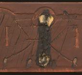 Antoni Tàpies. Relieve marrón con dos agujeros, 1964.