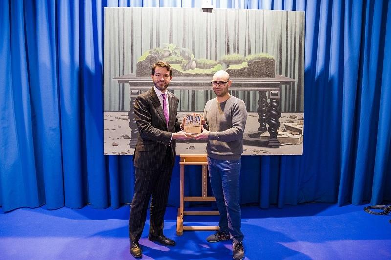Entrega del II Premio Solán de Cabras de Arte Joven a Antonio Montalvo.