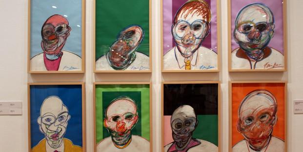 Vista de la exposición Francis Bacon. La cuestión del dibujo. Círculo de Bellas Artes, Madrid. Foto: Luis Martín.