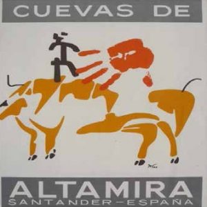 Mathias Goeritz. Cartel de las Cuevas de Altamira, 1948.
