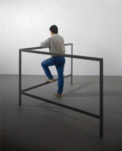 The Minus Objects. Struttura per parlare in piedi, Michelangelo Pistoletto, 1965-1966.