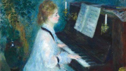 Mujer al piano, 1875-1876. Óleo sobre lienzo. 93 × 74 cm. The Art Institute of Chicago. Colección Mr. y Mrs. Martin A. Ryerson.