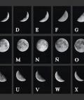Leandro Katz. Alfabeto Lunar I/Lunar Alphabet I 1978. Mural, 27 fotografías b/n/Mural, 27 b&w photographs.