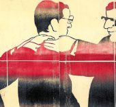 Beatriz González. Zócalo de la Comedia (4 Dípticos) / Zócalo de la tragedia (4 Dípticos), 1983.