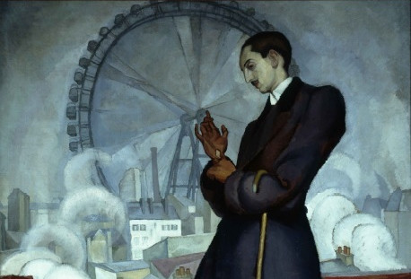 Diego Rivera. Retrato de Adolfo Best Maugard (detalle), 1913.