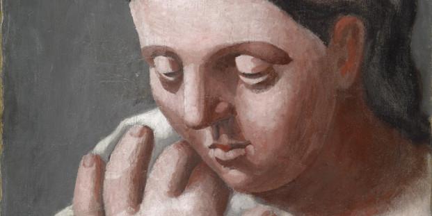 Pablo Ruiz Picasso. Téte et main de femme, 1921.