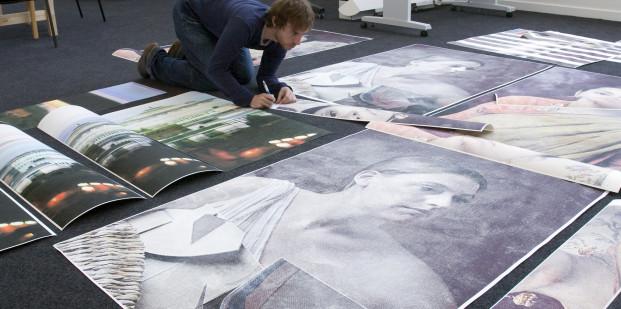 Paul Laidler en su estudio.