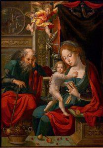 Pieter Coecke. La Sagrada Familia, 1540.
