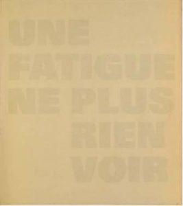 Rémy Zaugg. Ein Blatt Papier II (SOP 255), 1973- 1989.