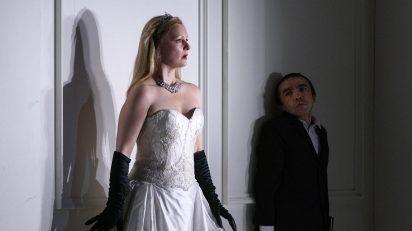 Rodelinda (Lucy Crow) y Flavio (Fabián Augusto Gómez). Fotógrafo @ Javier del Real / Teatro Real.