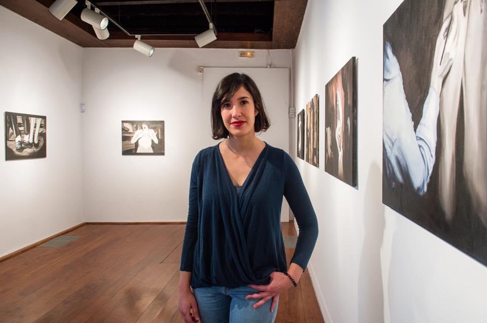 Cristina Toledo (Las Palmas de Gran Canaria, 1986) en la primera exposición del proyecto 'Espacio CV' del CAAM.