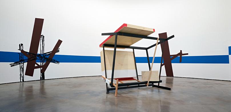 Pello Irazu. Formas de vida 304, en su ubicación original, en la sala 304, integrada en la exposición Arquitectura habitada (2012–2013).