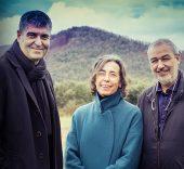 Rafael Aranda, Carme Pigem y Ramon Vilalta.