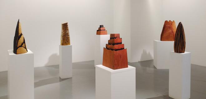 Exposición de David Nash en la Galería Álvaro Alcázar, Madrid.