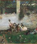 Mariano Fortuny. Almuerzo en la Alhambra c. 1872. Óleo sobre tela. 85,7 x 107 cm. Colección particular, Barcelona.