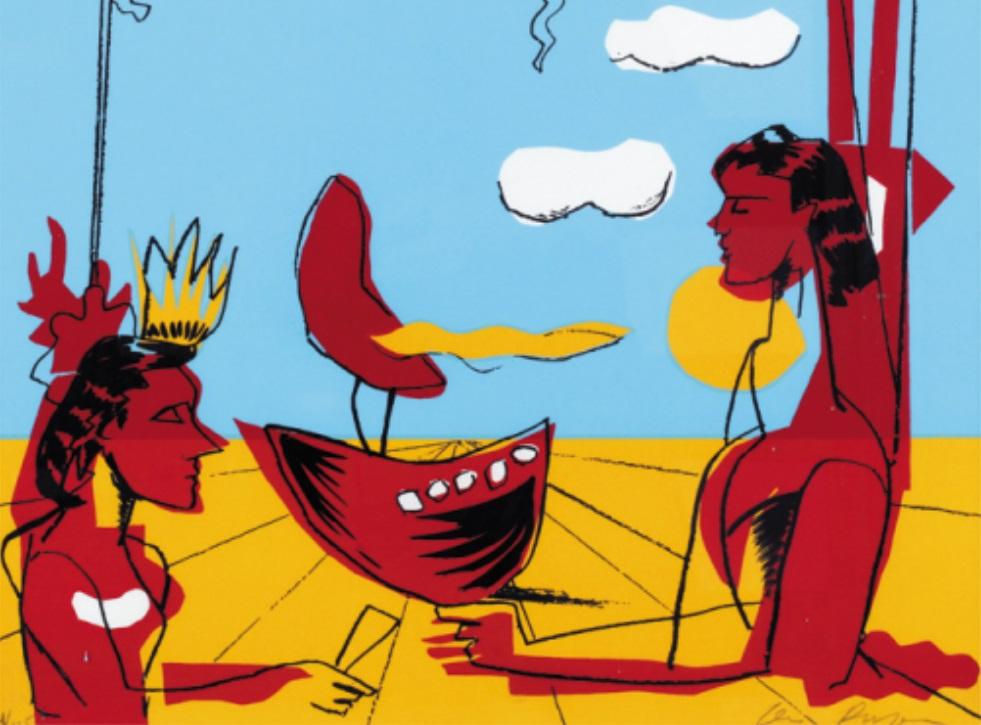 Carlos Berlanga, <em>Personajes en paisaje metafísico</em>, 2001.