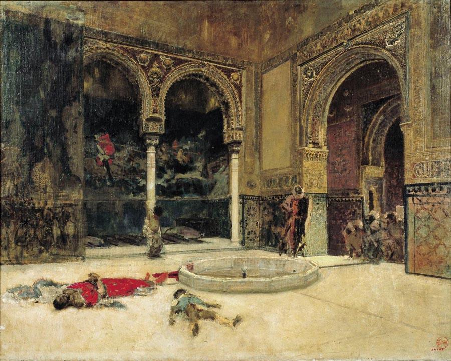 Mariano Fortuny, 'La matanza de los Abencerrajes', pintura, óleo sobre lienzo, hacia 1870. © Museu Nacional d'Art de Catalunya, Barcelona. Foto: Calveras / Mérida / Sagristà.