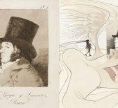 Los caprichos de Goya de Dali.
