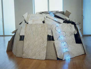 Mario Merz. Igloo with Fibonacci Numbers, 1994.