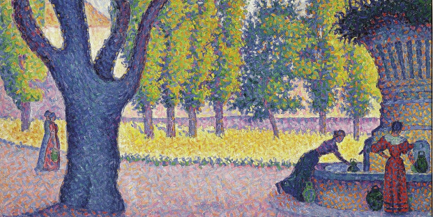 Paul Signac. Saint-Tropez, Fontaine des Lices, 1895.