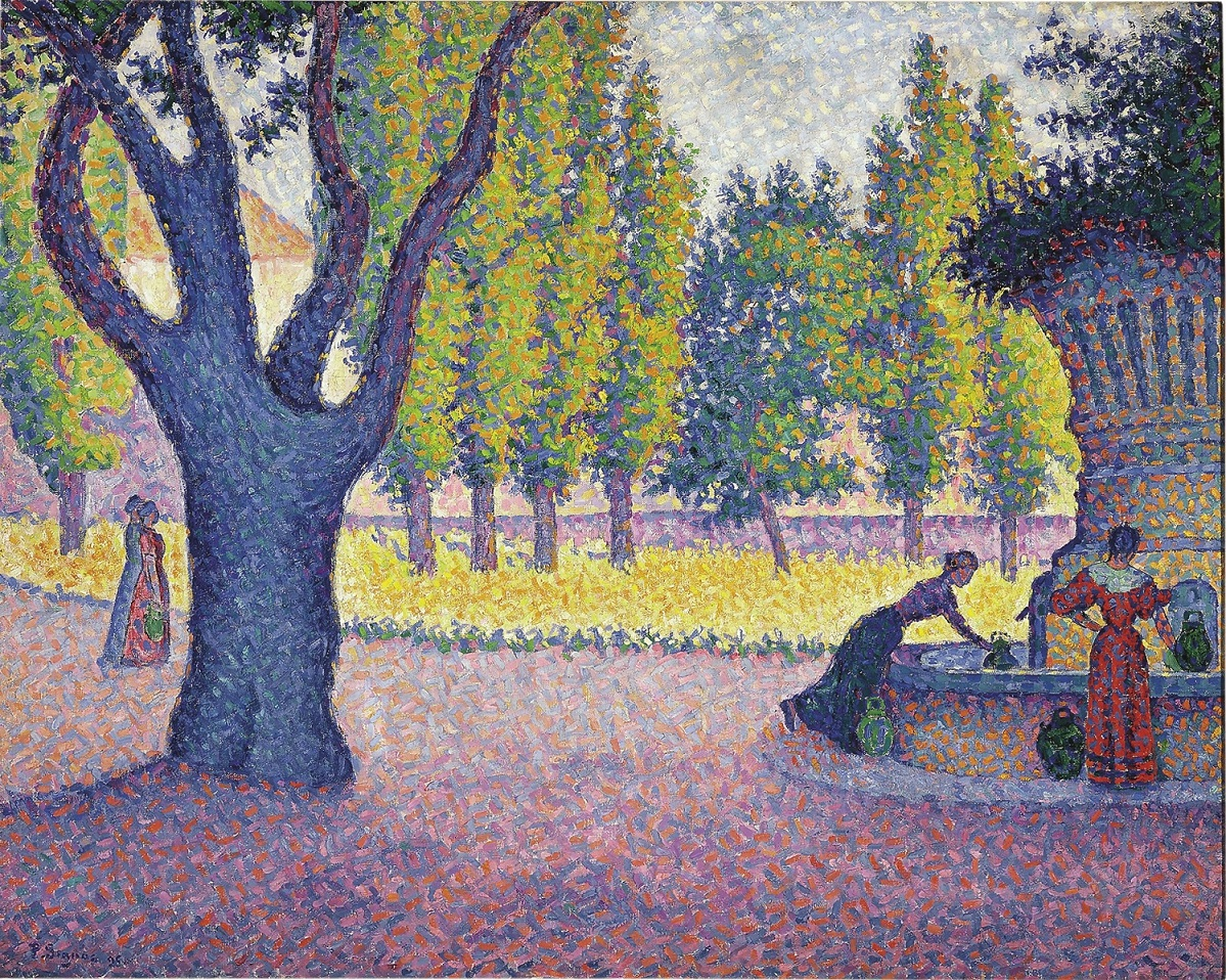 Paul Signac. Saint-Tropez, Fontaine des Lices, 1895.