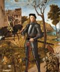 Vittore Carpaccio. El joven caballero en un paisaje, 1510.