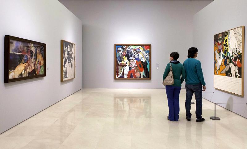 """""""Bacon, Freud y la Escuela de Londres"""". Museo Picasso Malaga. © MPM / jesusdominguez.com."""