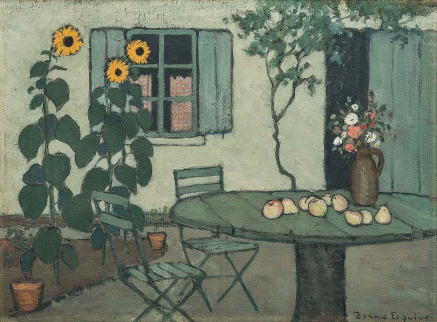 Pere Torné Esquius, Girasoles, hacia 1909. Colección particular.