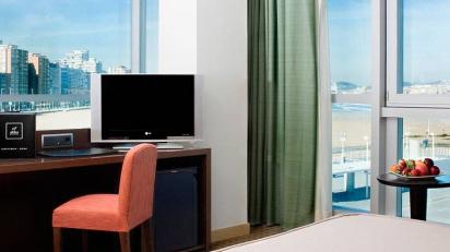 Habitación del Hotel ABBA Gijón, sede de SuiteArtGijón.