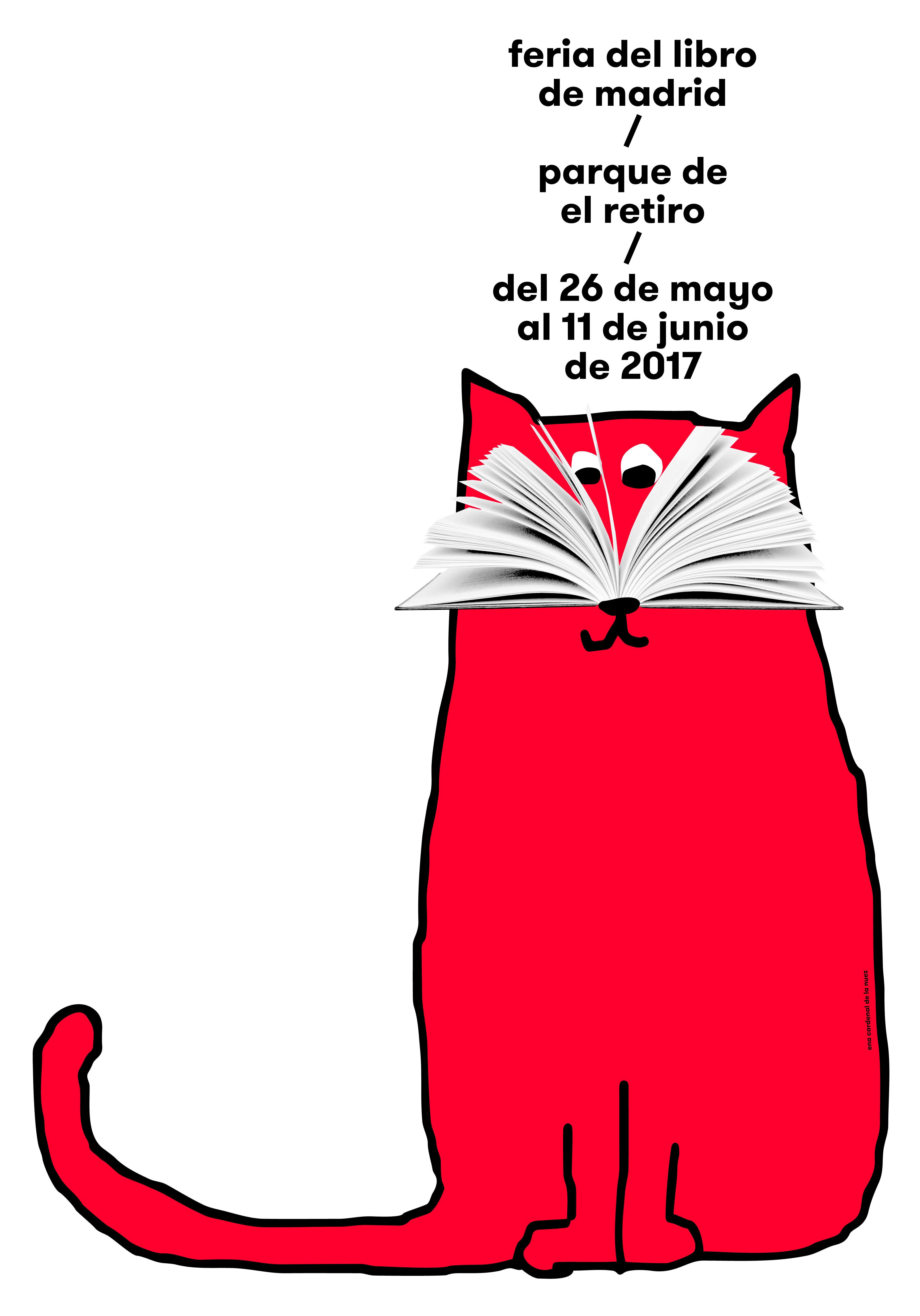 Cartel de la Feria Libro Madrid de 2017, diseñado por Ena Cardenal de la Nuez.