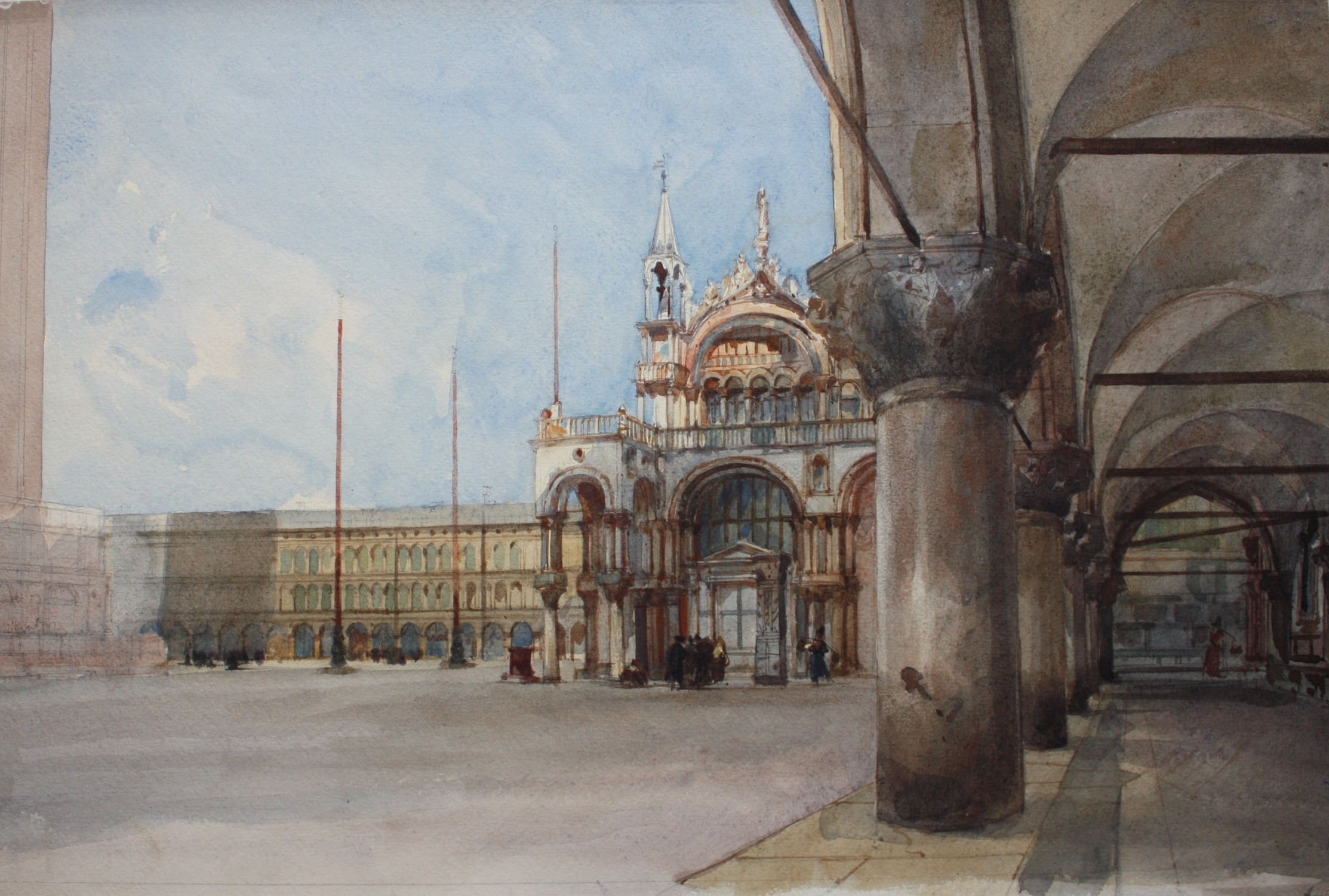 Eugenio Lucas Velázquez. Plaza de San Marcos, Venecia, 1868.