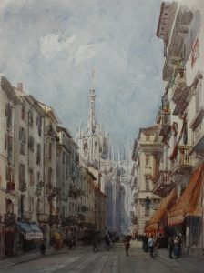 Eugenio Lucas Velázquez. Corso Francesco, Milán, 1868.