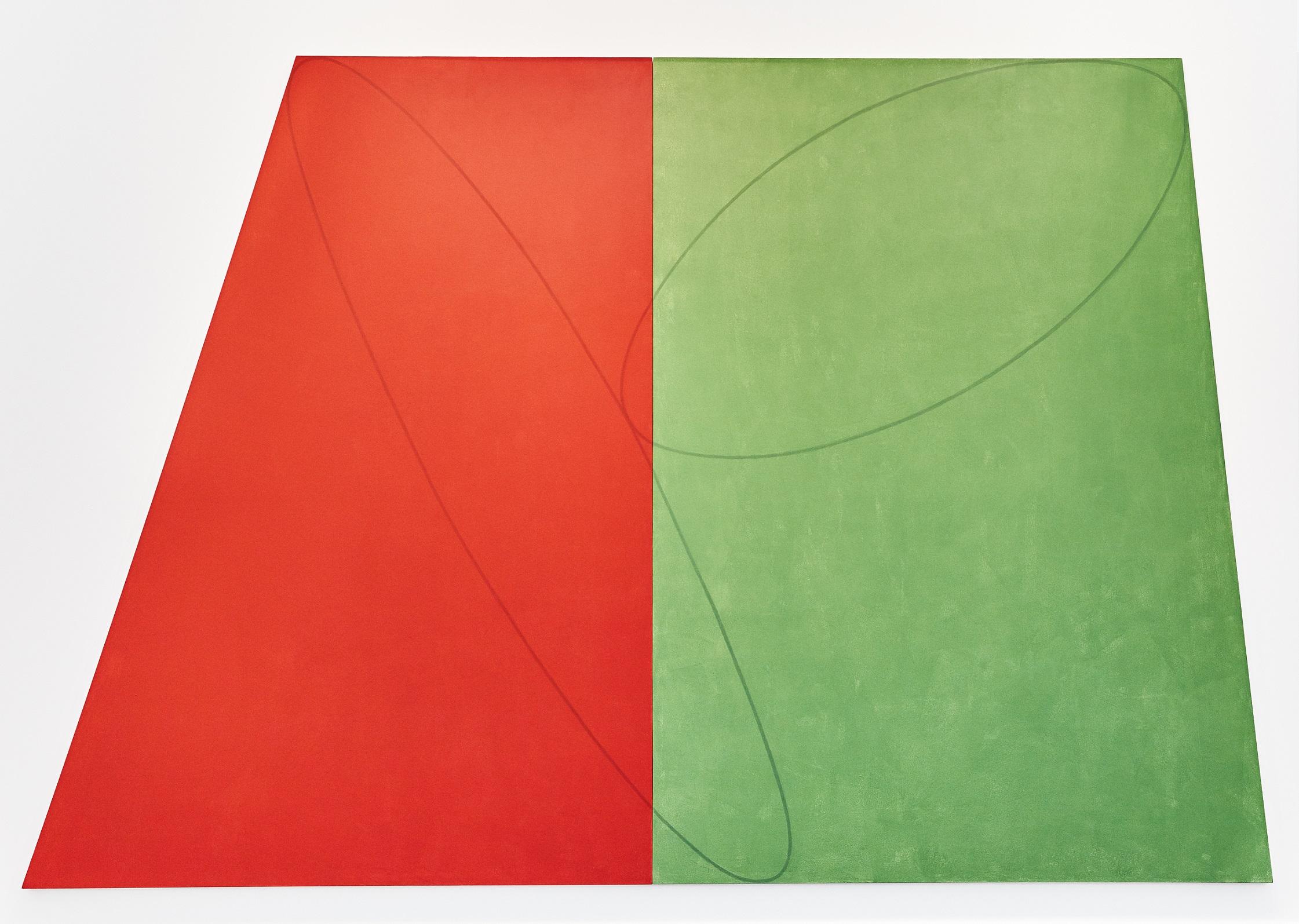 Robert Mangold. Plane - Figure Series A (Double Panel), 1993.