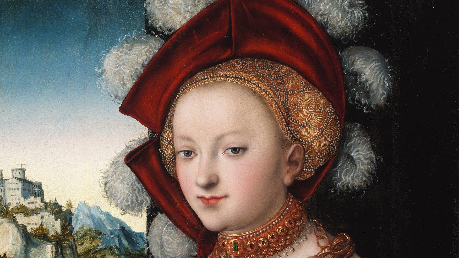 Lucas Cranach, el Viejo. Salomé con la cabeza de san Juan Bautista. Hacia 1526-1530. Óleo sobre tabla. 88,4 x 58,3 cm. Budapest, Museo de Bellas Artes.