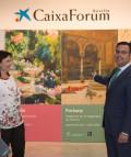 """La directora general adjunta de la Obra Social """"la Caixa"""", Elisa Durán, y el director de CaixaForum Sevilla, Moisés Roiz."""