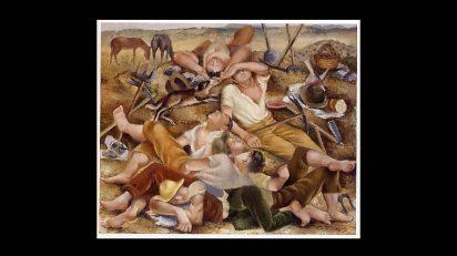 L'heure du midi. 1925. Josep de Togores. Óleo sobre tela. 60 x 73 cm.