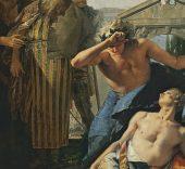 Giambattista Tiepolo. La muerte de Jacinto, c. 1752-1753. Óleo sobre lienzo. 287 x 232 cm. © Museo Thyssen-Bornemisza, Madrid.