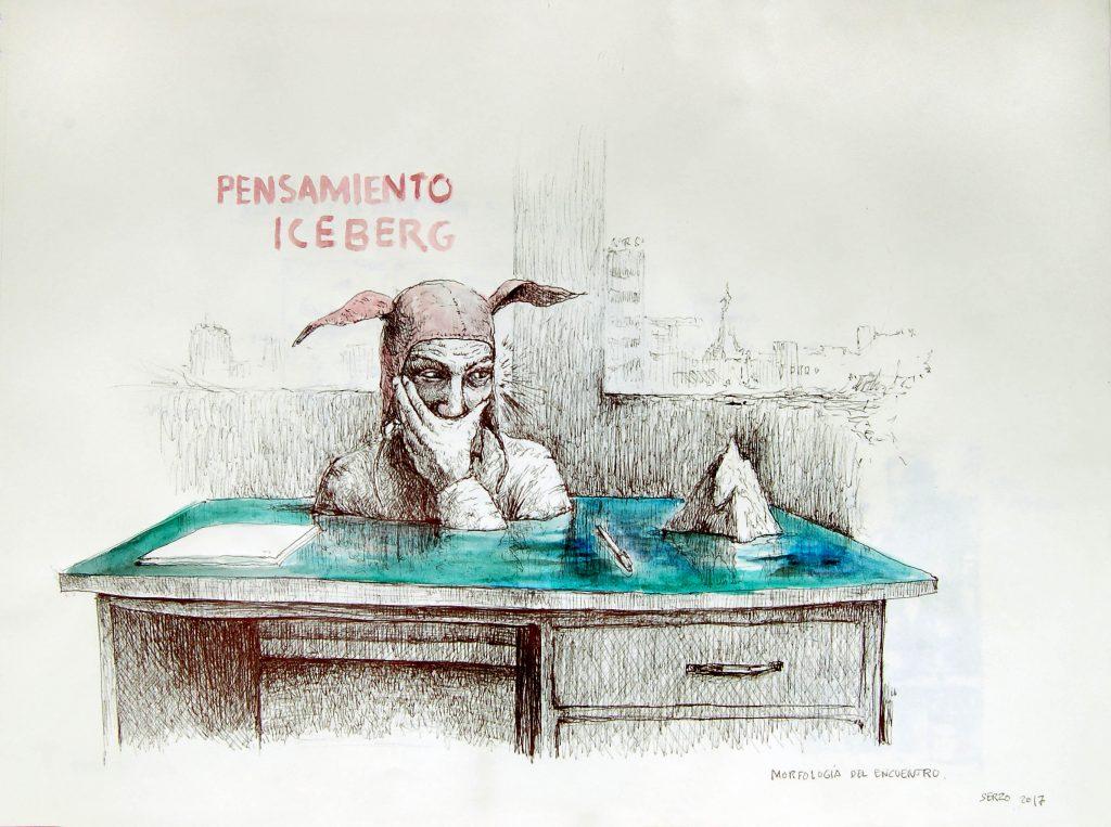 José Luis SERZO. Pensamiento iceberg, Serie Morfología del encuentro, 2017 | Cortesía Galería Gema Llamazares, Gijón.