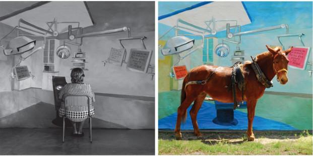 Adriana Bustos, Anabella y su ilusión, 2008. De la serie Ilusiones. Producción MUSAC. Cortesía de la artista y galería Bacelos.