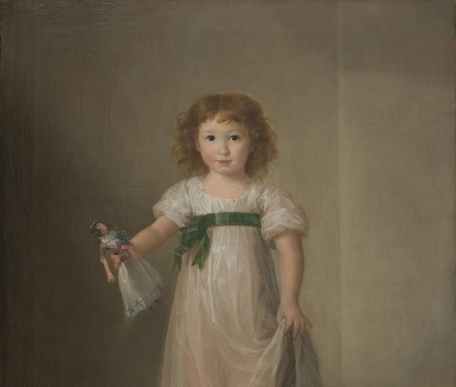 Agustín Esteve. Manuela Isidra Téllez-Girón, futura duquesa de Abrantes (detalle).
