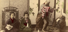 Anónimo. Escena costumbrista japonesa. Geishas, 1900.