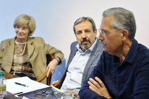 Pilar Fernández-Pinedo, Javier López Iglesias y Arturo R. Camba. Foto: Sonia Aguilera.