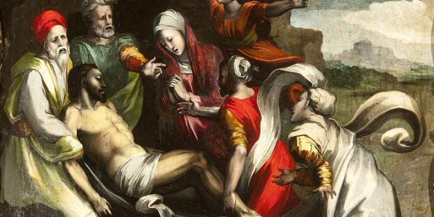 Entierro de Cristo. 1530-1540. Alonso Berruguete. Iglesia parroquial de Fuentes de Nava, Palencia.