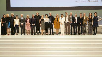 Participantes del fórum Future is now, organizado por Norman Foster Foundation en el Teatro Real de Madrid.